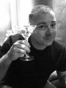 Brian Hoadley with martini